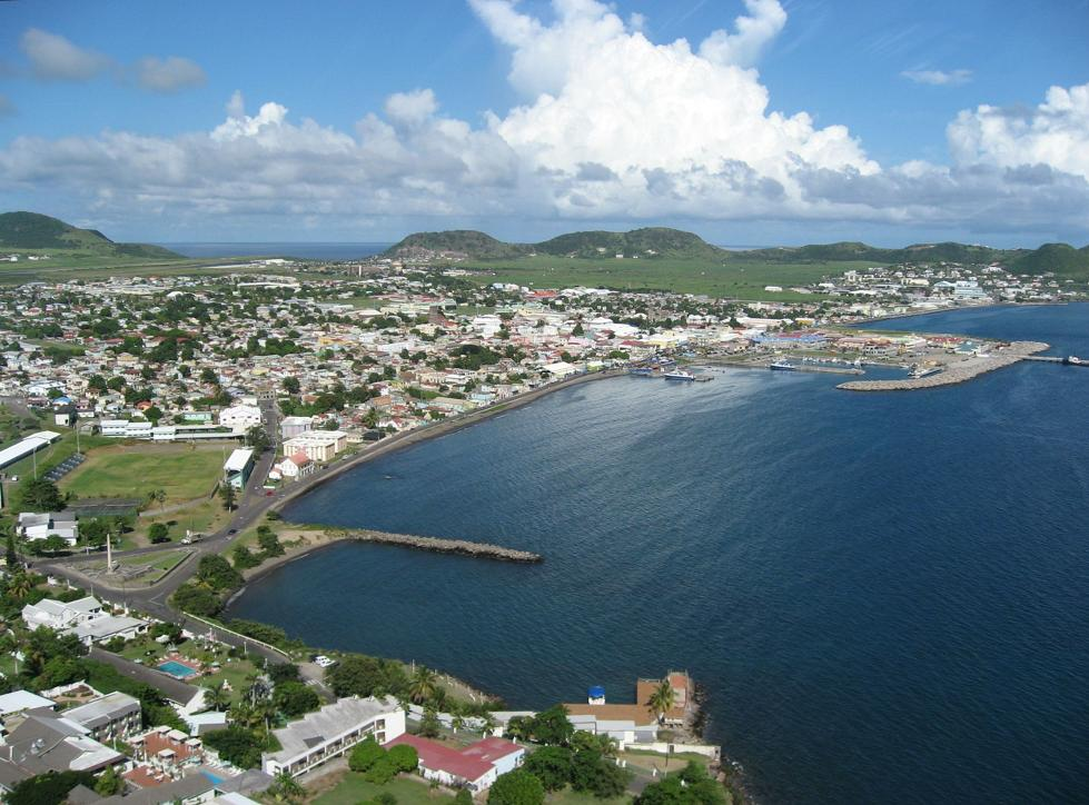 Photos from a helicopter tour of st kitts for Port zante st kitts